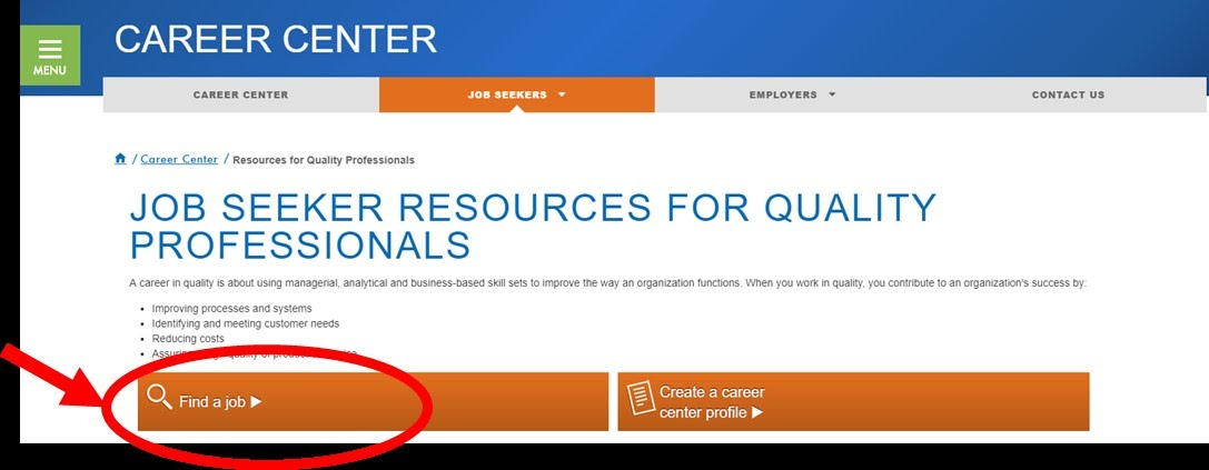 Learn about ASQ\'s Career Center: OTHER RESOURCES - ASQ Salt Lake ...